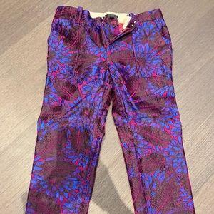 J Crew Midnight Floral Jacquard pants